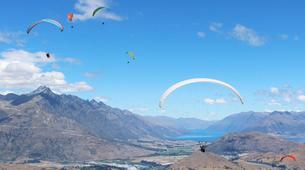 Paragliding-Queenstown-Tandem paragliding flight over Queenstown, New Zealand-2