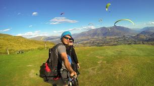 Paragliding-Queenstown-Tandem paragliding flight over Queenstown, New Zealand-6