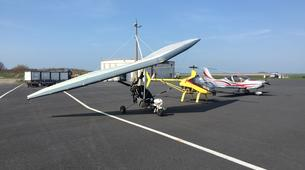 Microlight flying-Le Havre-Microlight first flight between Etretat & Deauville near Le Havre-1