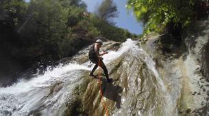 Canyoning-Sierra de las Nieves Natural Park-Canyoning at Zarzalones Gorge in Sierra de las Nieves, near Málaga-11