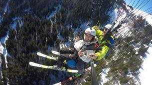 Paragliding-La Clusaz, Massif des Aravis-Winter tandem paragliding flight in La Clusaz-5