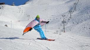 Snow Experiences-La Clusaz, Massif des Aravis-Wingjump discovery course in La Clusaz-4