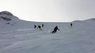 Freeride-Cortina d'Ampezzo-Backcountry skiing in Marmolada Glacier near Cortina d'Ampezzo-5