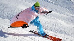 Snow Experiences-La Clusaz, Massif des Aravis-Wingjump discovery course in La Clusaz-5
