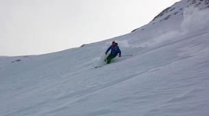 Freeride-Cortina d'Ampezzo-Backcountry skiing in Marmolada Glacier near Cortina d'Ampezzo-3