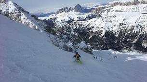 Freeride-Cortina d'Ampezzo-Backcountry skiing in Marmolada Glacier near Cortina d'Ampezzo-1