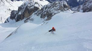 Freeride-Cortina d'Ampezzo-Backcountry skiing in Marmolada Glacier near Cortina d'Ampezzo-2