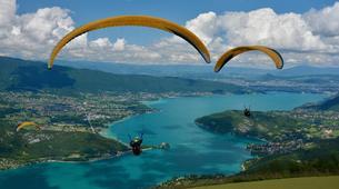 Parapente-Annecy-Paragliding tandem flight above Annecy lake-1