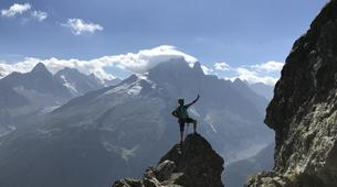 Rock climbing-Chamonix Mont-Blanc-Discover multi-pitch climbing in Monte Coudrey, Aosta Valley-1