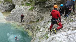 Canyoning-Zugspitze-Beginners canyon in Biberwier, close to the Zugspitz and Eibseee-5