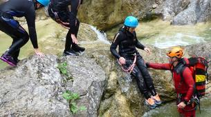 Canyoning-Zugspitze-Beginners canyon in Biberwier, close to the Zugspitz and Eibseee-6