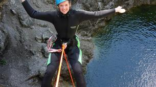 Canyoning-Zugspitze-Beginners canyon in Biberwier, close to the Zugspitz and Eibseee-4