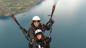 Paragliding-Sopelana-Tandem paragliding over the coast of Sopelana in Bilbao-4