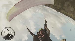Paragliding-Sopelana-Tandem paragliding over the coast of Sopelana in Bilbao-2
