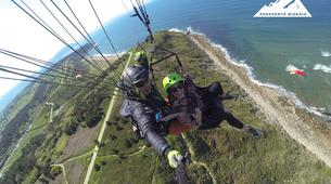 Paragliding-Sopelana-Tandem paragliding over the coast of Sopelana in Bilbao-5