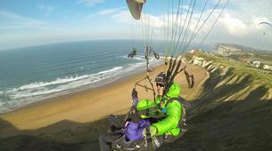 Paragliding-Sopelana-Tandem paragliding over the coast of Sopelana in Bilbao-3