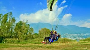 Paragliding-Ticino-Tandem paragliding from Monte Tamaro in Ticino-5