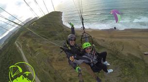 Paragliding-Sopelana-Tandem paragliding over the coast of Sopelana in Bilbao-6