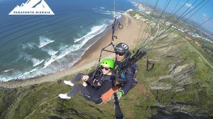 Paragliding-Sopelana-Tandem paragliding over the coast of Sopelana in Bilbao-1