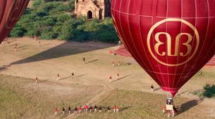 Montgolfière-Bagan-Vol en montgolfière au dessus du site archéologique de Bagan-1