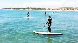 Stand up Paddle-Vilanova i la Geltru-SUP excursion in Ribes Roges beach in Vilanova i la Geltru, Catalonia-1
