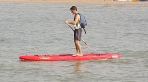 Stand up Paddle-Vilanova i la Geltru-SUP excursion in Ribes Roges beach in Vilanova i la Geltru, Catalonia-3