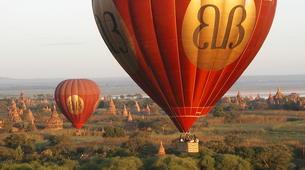 Montgolfière-Bagan-Vol en montgolfière au dessus du site archéologique de Bagan-2