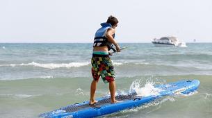 Stand up Paddle-Vilanova i la Geltru-SUP excursion in Ribes Roges beach in Vilanova i la Geltru, Catalonia-5