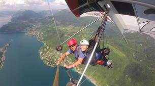 Ala detla-Annecy-Hang gliding tandem flight over Annecy-1