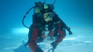 Buceo en hielo-Val Cenis, Haute Maurienne-Ice diving in Val Cenis, Vanoise Massif-1