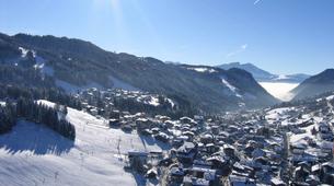Paragliding-Les Gets, Portes du Soleil-Winter tandem paragliding in Les Gets-5
