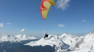 Paragliding-Les Gets, Portes du Soleil-Winter tandem paragliding in Les Gets-6