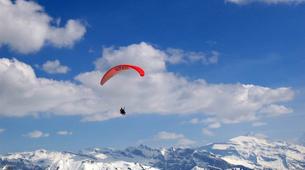 Paragliding-Les Gets, Portes du Soleil-Winter tandem paragliding in Les Gets-2
