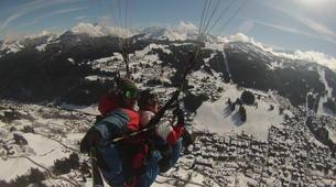 Paragliding-Les Gets, Portes du Soleil-Winter tandem paragliding in Les Gets-1