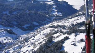 Paragliding-Les Gets, Portes du Soleil-Winter tandem paragliding in Les Gets-3