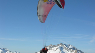 Paragliding-Les Gets, Portes du Soleil-Winter tandem paragliding in Les Gets-4