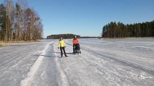 Ice Skating-Linnansaari National Park-Ice Skating Course in Oravi-4