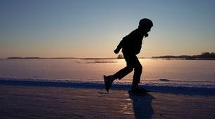 Ice Skating-Linnansaari National Park-Ice Skating Course in Oravi-3