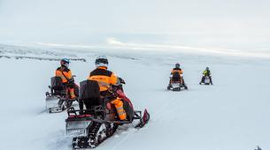 Snowmobiling-Gullfoss-Snowmobiling Langjökull Glacier, from Gullfoss-1