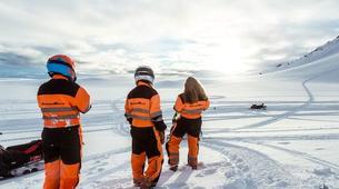 Snowmobiling-Gullfoss-Snowmobiling Langjökull Glacier, from Gullfoss-4