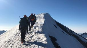 Mountaineering-Bessans, Haute Maurienne-Mountaineering in the Albaron Pass in Bessans, French Alps-3