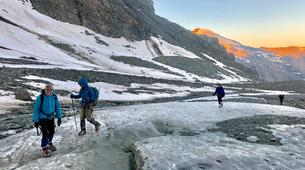 Mountaineering-Bessans, Haute Maurienne-Mountaineering in the Albaron Pass in Bessans, French Alps-4