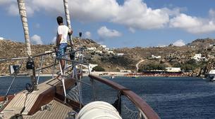 Sailing-Mykonos-All Inclusive Sailing Yacht Cruise to South Mykonos Beach, Rhenia & Delos Islands-4