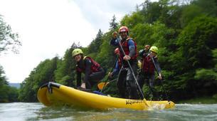 Stand up Paddle-Salzburg-Supsquatch auf der Salzach, Österreich-14