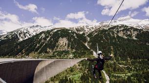 Zipline-Zillertal-Flying Fox Zipline entlang des Schlegeis Damms-1