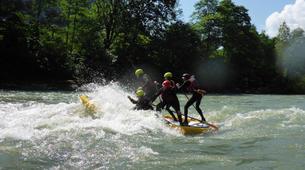 Stand up Paddle-Salzburg-Supsquatch auf der Salzach, Österreich-11
