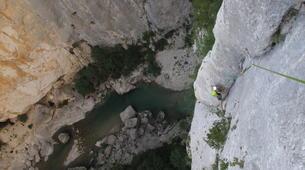 Escalada-Verdon Gorge-Climbing the Vallon de la Carleva in Verdon Gorge, France-3