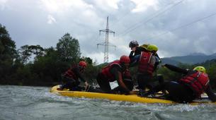 Stand up Paddle-Salzburg-Supsquatch auf der Salzach, Österreich-6