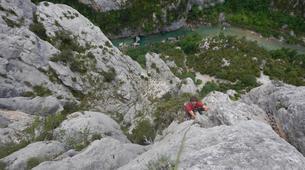 Escalada-Verdon Gorge-Climbing the Vallon de la Carleva in Verdon Gorge, France-2