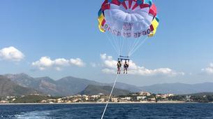 Parachute ascensionnel-Bastia-Parachute ascensionnel dans le golfe de Saint Florent, Haute Corse-2